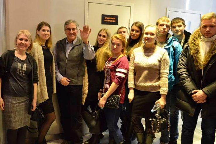 Встреча студентов 3 курса направления «Юриспруденция» с кинорежиссером и продюсером Кристофером Бивером