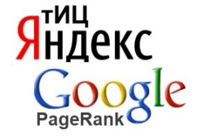 Citation indexes of the sites of VSUES: Yandex TCI and Google PageRank
