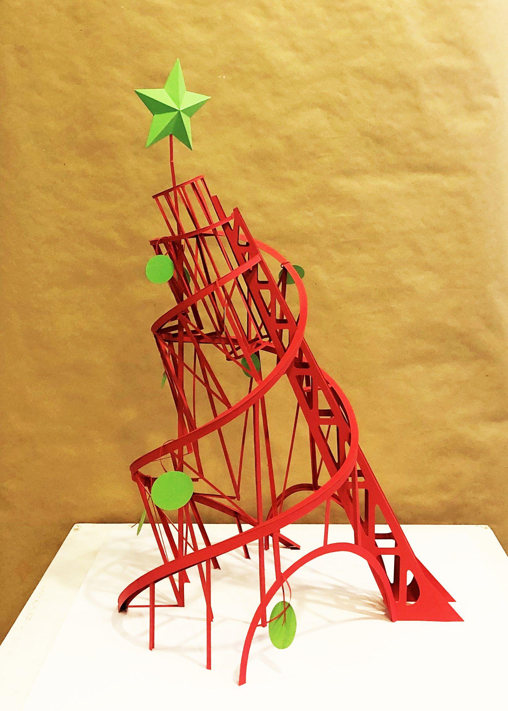 Открытие выставки «АРТ-ЕЛКА-2020» (бумагопластика, дизайнерская открытка, инсталляция)