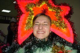 Евгения Корнева - победительница конкурса на лучший новогодний костюм