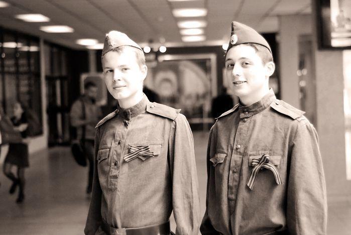 Волонтеры ВГУЭС празднуют День Победы
