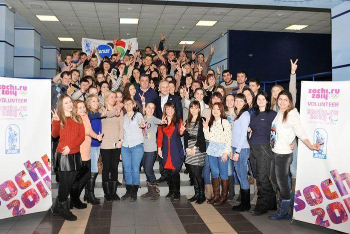 滨海边区志愿人员的一批去了2014年索契冬季奥运会!