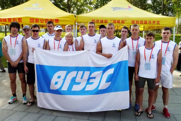 "Congratulations to the oarsmen on ""Dragons"" from the VSUES sport club with gold and silver medals on the student championship of the world!"