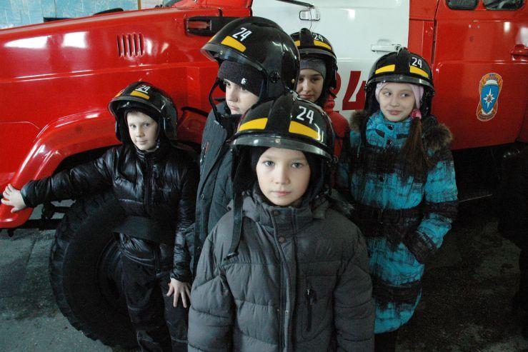 Ученики лицея посетили 19 отряд государственной противопожарной службы МЧС России