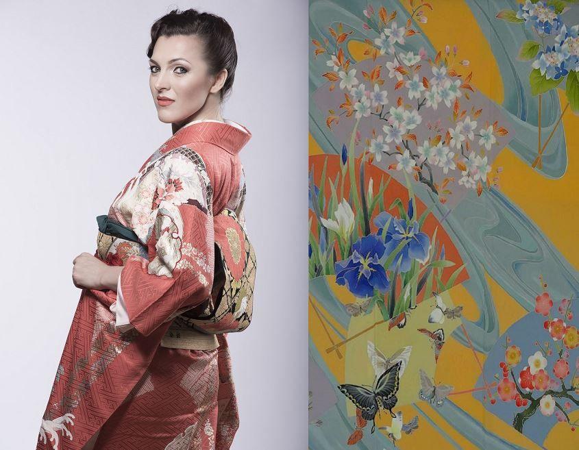 Выставка Ольги Хованчук «История любви. Японское кимоно и роспись по шелку «кага-юдзэн»