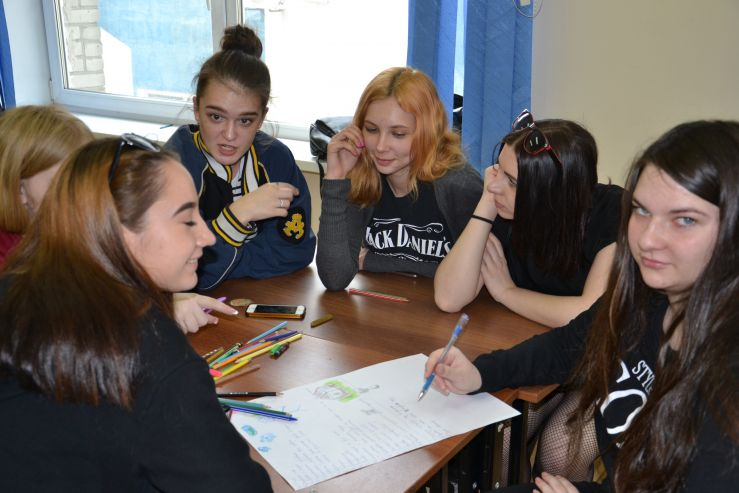 Социально- значимые темы (ЗОЖ, толерантное поведение, права человека и др.) обсуждают первокурсники Академического колледжа