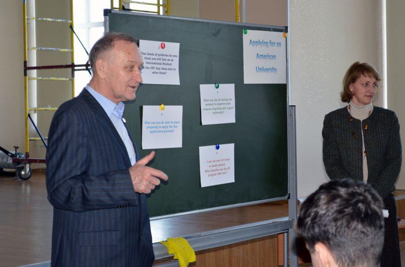Геннадий Иннокентьевич дает напутствие ученикам