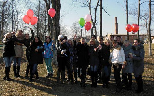 Студенты и преподаватели приняли участие в Акции против терроризма.