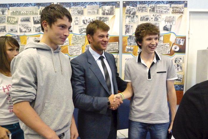 Бронзовый призер Олимпийских игр в Лондоне Иван Штыль выступил перед учениками ШИОД ВГУЭС