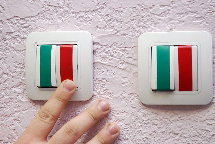 Зачем нужны разноцветные выключатели?