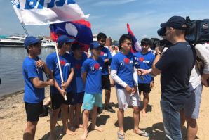 Laos's students at VSUES – rowboat contest prizewinners