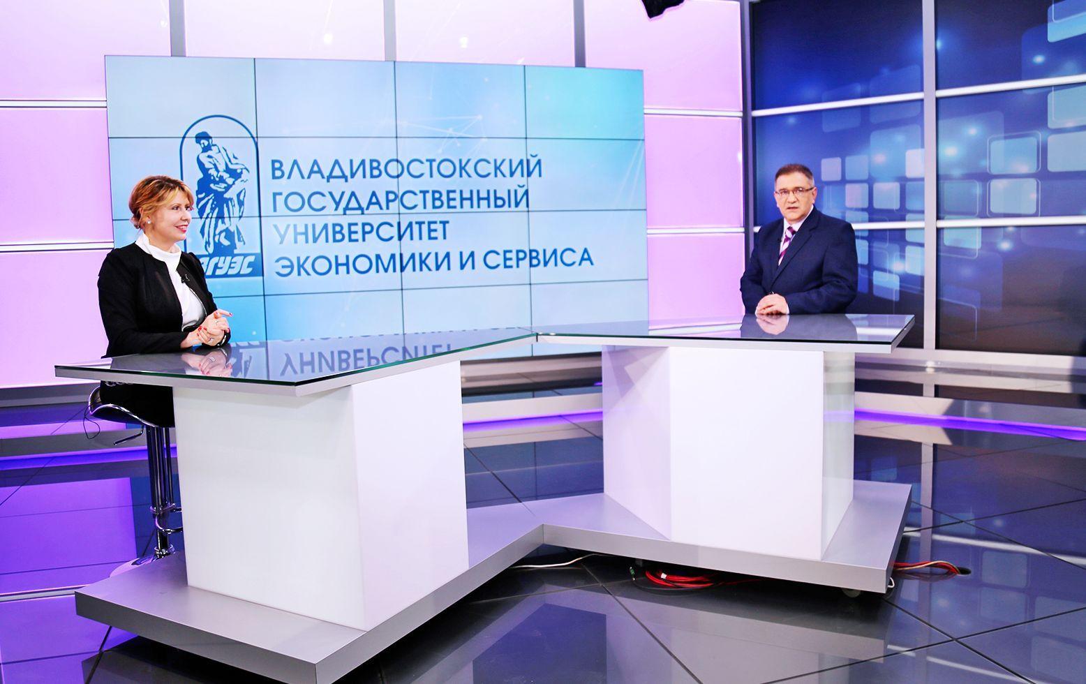 Ректор ВГУЭС Татьяна Терентьева в эфире телеканала «Россия 24»