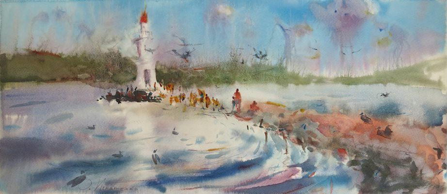 Открытие выставки Ольги Игнатенко «Течение» (графика)