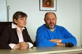 Ст.преподаватель Алла Воронкова и главврач краевой клинической больницы № 2 Вячеслав Глушко