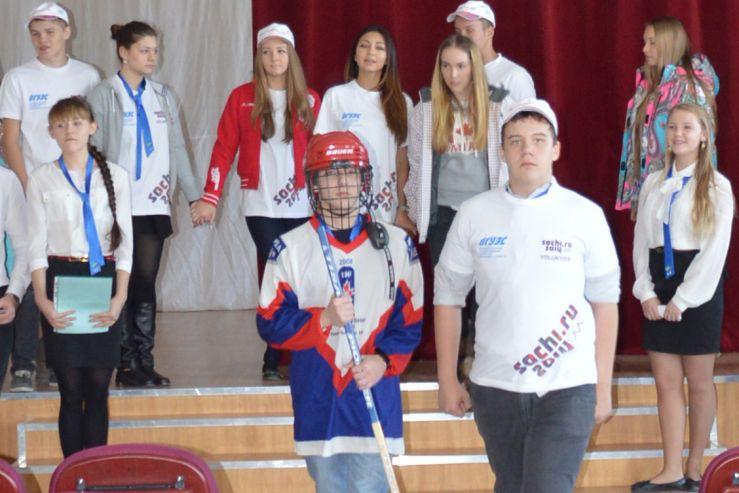К открытию Олимпиады в Сочи старшеклассники МЛШ провели торжественную линейку