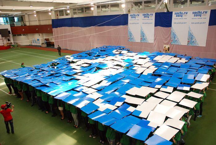 Волонтеры ВГУЭС отпраздновали 500 дней до зимних Олимпийских игр в Сочи