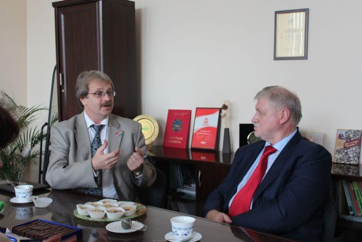 Встреча старшеклассников ШИОД с С. М. Мироновым