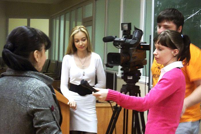 В роли тележурналистов попробовали себя студенты кафедры культурологии