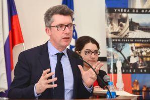 The lecture of Jean-Casien Bilje the professor of philosophy at the University Paris-Sorbonne was held in VSUES