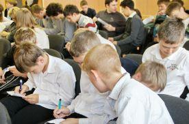 Все собравшиеся на праздник ученики активно участвовали во всех мероприятиях