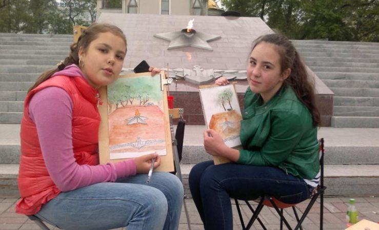 Итоговые пленэры прошли в детской художественной школе ШИОД
