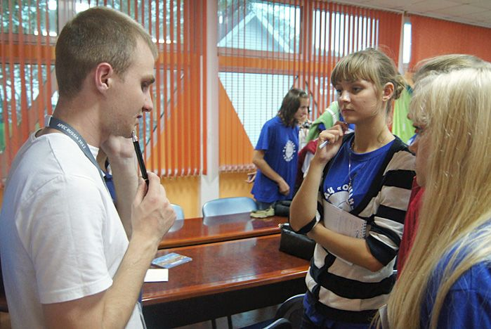 Волонтеры ВГУЭС провели олимпийский урок во всероссийском детском центре «Океан»